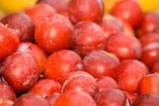 Free Red Plums Royalty Free Stock Photos - 956878