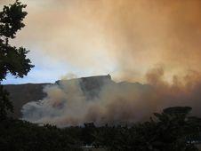 Free Fire On Table Mountain Stock Photos - 957583