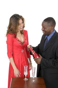Free Romantic Couple Celebrating 1 Royalty Free Stock Image - 959406