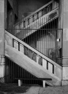 Free Concrete Stairs, Black And White Stock Photos - 959623