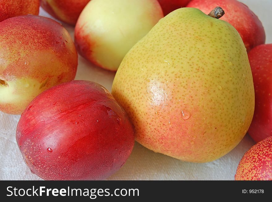 Pear and nectarines