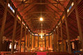 Free Biggest Catholic Wood Church Of Thailand Royalty Free Stock Photo - 9500215