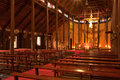 Free Biggest Catholic Wood Church Of Thailand Royalty Free Stock Photo - 9500345