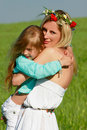 Free Mother And Daughter On Nature Royalty Free Stock Photos - 9502778