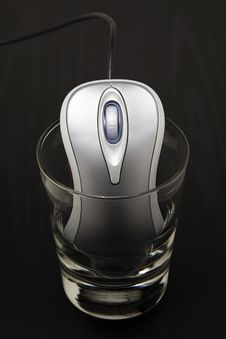 Computer Mouse In A Glass Stock Photos