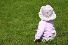 Baby Girl On Grass Stock Photography