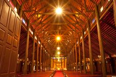 Free Biggest Catholic Wood Church Of Thailand Stock Photography - 9500602