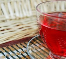 Free Cup Of Tea. Small Basket Royalty Free Stock Images - 9501169