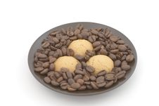 Free Saucer With Biscuits Royalty Free Stock Image - 9501766