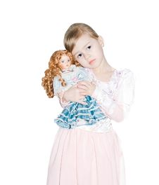 Free The Girl With A Doll. Royalty Free Stock Photography - 9502137