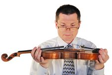 Free Man With A Age-old  Violin Stock Images - 9502224