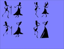 Free Formal Attire Dancers Royalty Free Stock Images - 9504459