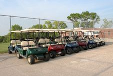 Golf Carts Stock Image