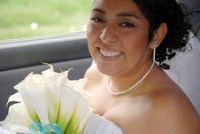 Free Hispanic Bride Waiting In The Car Stock Photo - 9505520