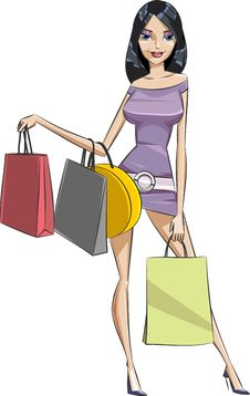 Free Shopping Girl Stock Image - 9506111