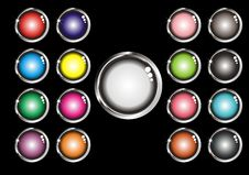 Free Set Of Web Buttons Royalty Free Stock Image - 9506476