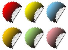 Vector Stickers Stock Image
