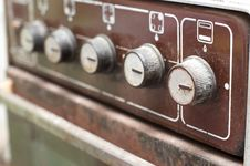 Free Switches Of Old Gas Cooker Stock Photos - 9508613