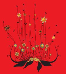 Free Funky Flowers Stock Image - 9509201