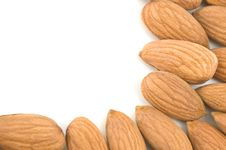 Free Almonds Border. Stock Image - 9509301