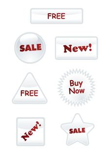 Free Label Set. Vector Stock Images - 9509884