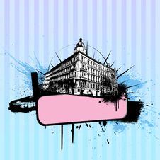 Free Illustration With City. Vector Stock Image - 9509991