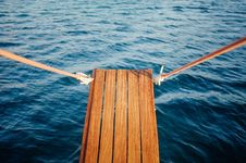 Free Wooden Gangplank Over Water Stock Image - 95031291
