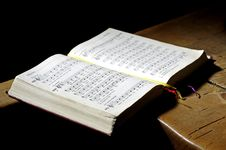 Free Hymnal Book Religion Stock Image - 95031381
