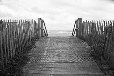 Free Boardwalk In Black And White Royalty Free Stock Images - 95031459