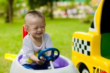 Free Baby Boy Driving Toy Car Royalty Free Stock Photos - 95031598
