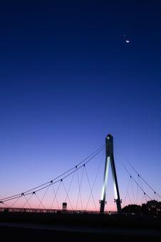 Free Suspension Bridge At Night Royalty Free Stock Images - 95031889