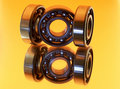 Free Bearings On Yellow Background - Reflection Royalty Free Stock Photos - 9511378