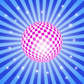 Free Discoball On Stars Background Royalty Free Stock Image - 9511666