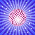 Free Discoball On Stripes With Stars Royalty Free Stock Image - 9511686