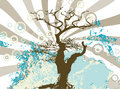 Free Grunge Abstract Tree Silhouette Raster Stock Images - 9512344