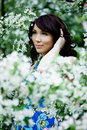 Free Tender Girl In The Garden Royalty Free Stock Photo - 9515975