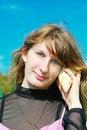 Free Girl Hears The Sounds Of Sea Stock Photos - 9519523