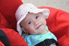 Happy Baby Girl Summer Shot Royalty Free Stock Image