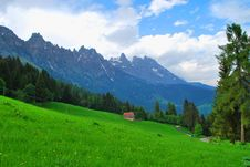 High-mountainous Spring Landscape. Stock Photo