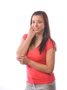 Free Young Woman Thinking Royalty Free Stock Photo - 9512005