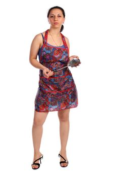 Free Young Housewife With Ladle Royalty Free Stock Photos - 9512108