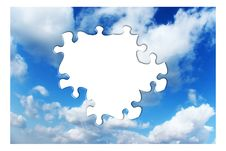 Free Blue Sky With Clouds Royalty Free Stock Photography - 9512757