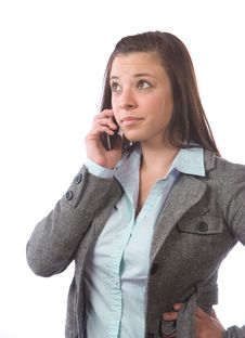 Free Business Woman On A Cell Phone Royalty Free Stock Photography - 9513117