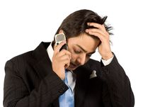 Free Busy On Cell Phone Stock Photo - 9513310