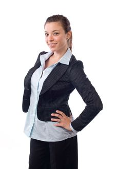 Business Woman Hands On Hips Stock Image
