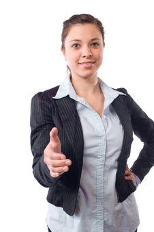 Free Business Woman Handshake Isolated On White Stock Photo - 9514220