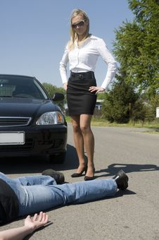 Free The Road Incident Royalty Free Stock Photography - 9514477