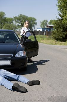 Free The Road Incident Royalty Free Stock Photos - 9514628