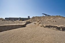 Sand Extraction Site Royalty Free Stock Photo