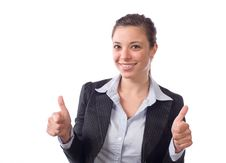 Free Business Woman Thumbs Up Royalty Free Stock Photography - 9515857